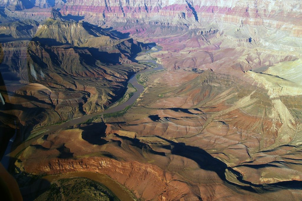 Aerial view of the Grand Canyon in Arizona