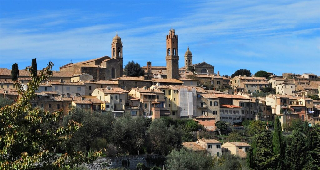 The hill town of Montalcino is a must-see on a drive through the Val d' Orcia