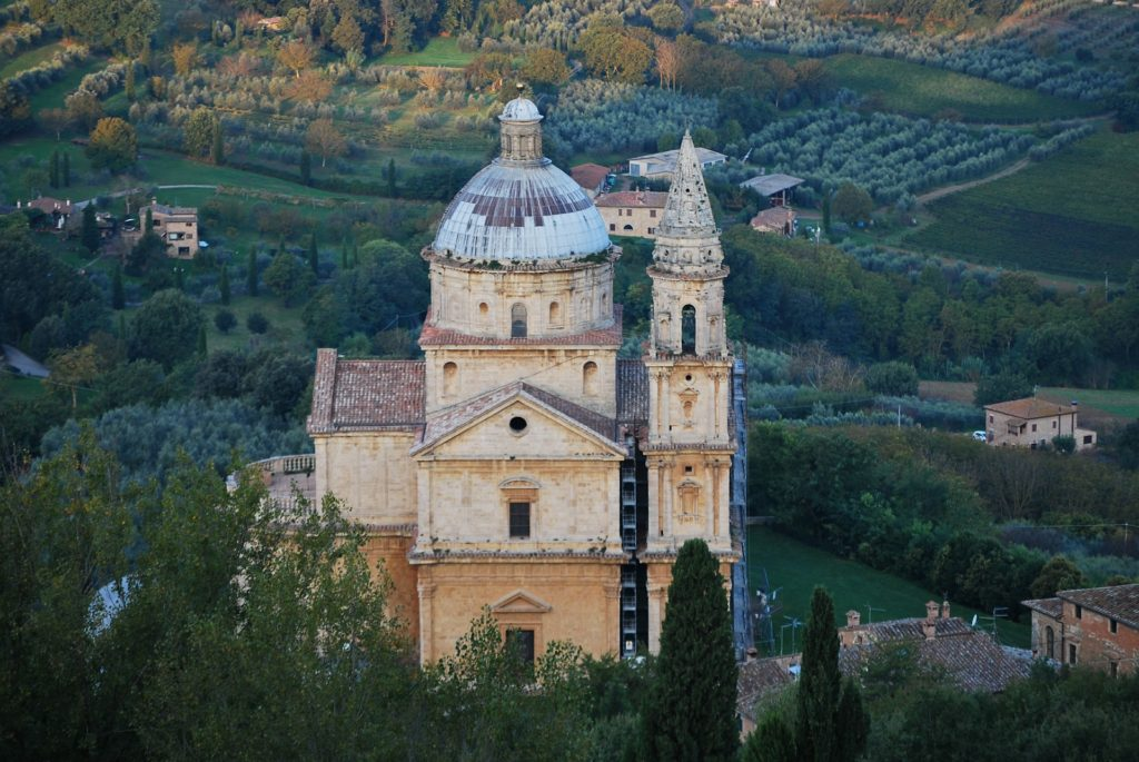 The Church of the Madonna di San Biagio in Montepulciano, Italy