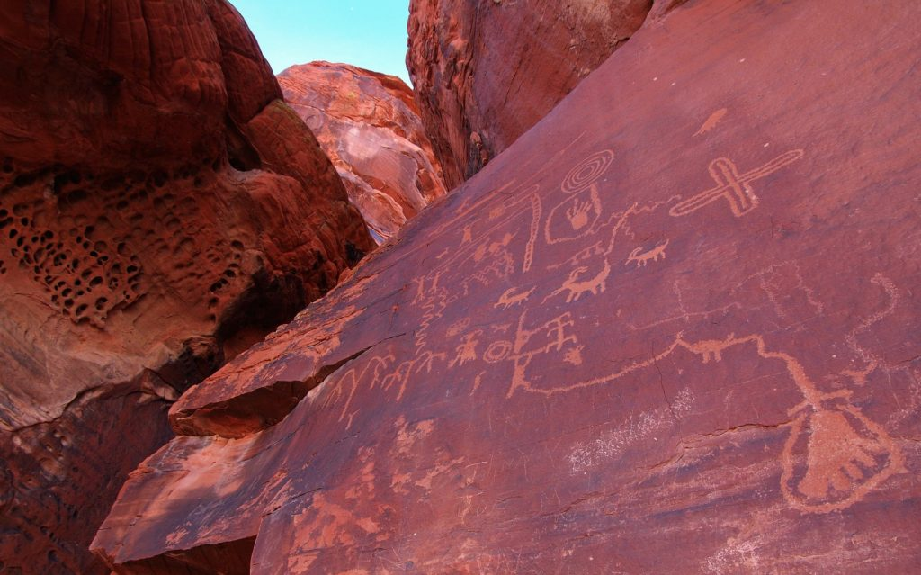 Petroglyphs at Valley of Fire Nevada