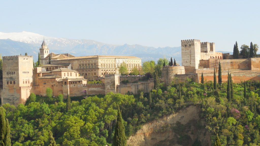The Alhambra of Granada in Spain