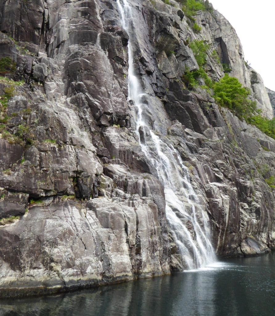 Waterfall Lysefjord Norway