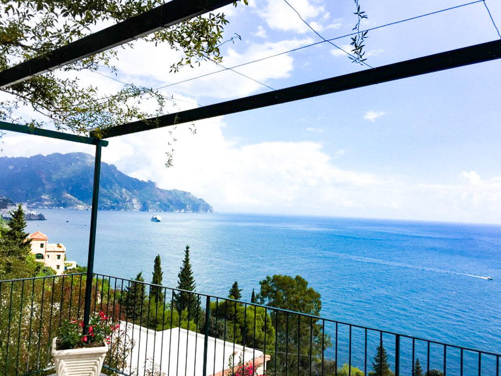 Lunch with a view on the Amalfi Coast of Italy