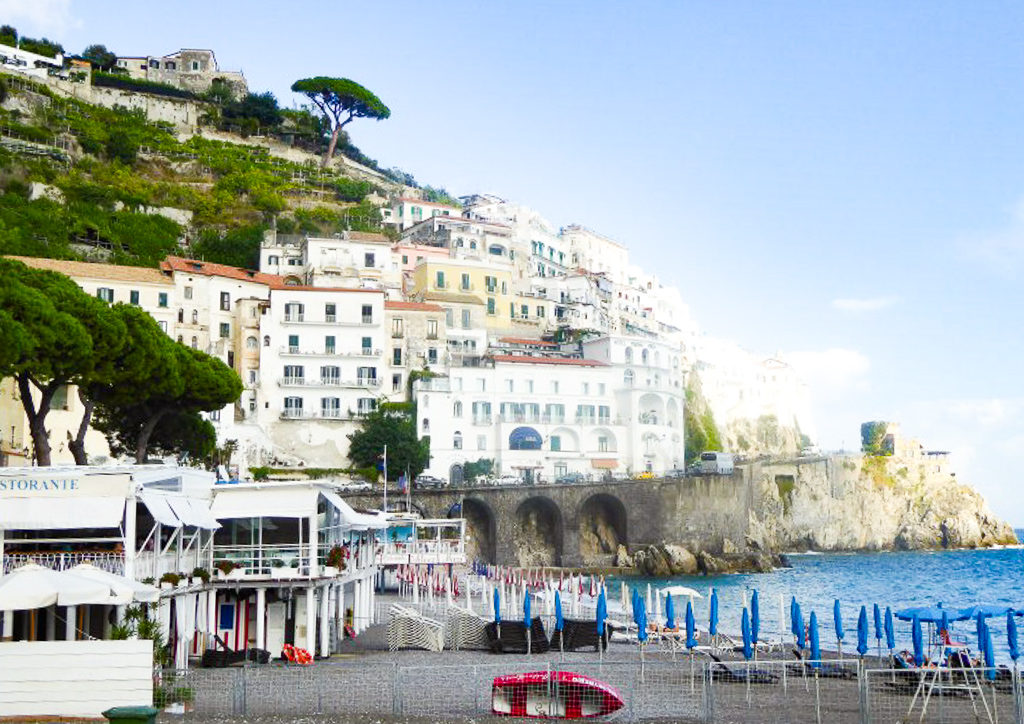 A view of Amalfi from the pier