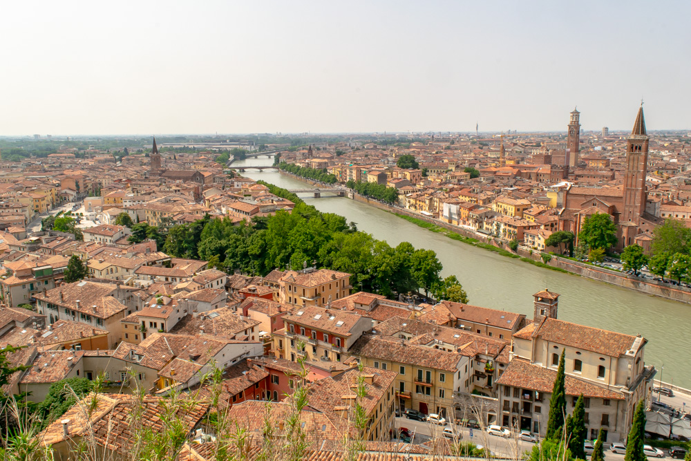 A view of Verona, Italy, a UNESCO World Heritage Site