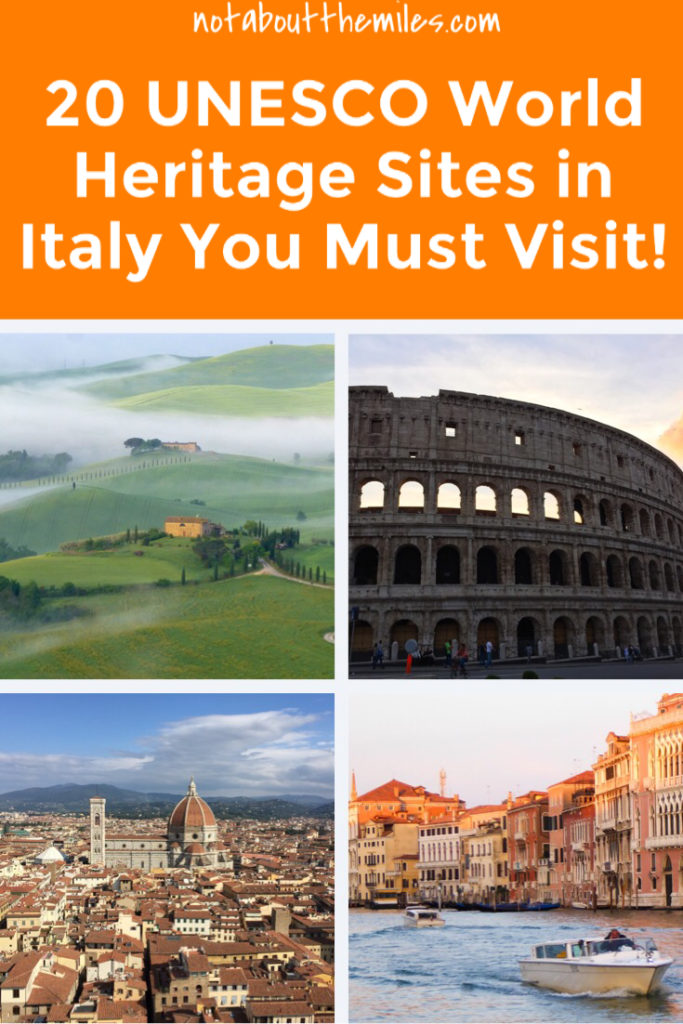 Click to discover 20 stunning UNESCO World Heritage sites in Italy you must visit. Historic city centers, scenic countryside, amazing coasts and beautiful villages: you'll find them all on this list!