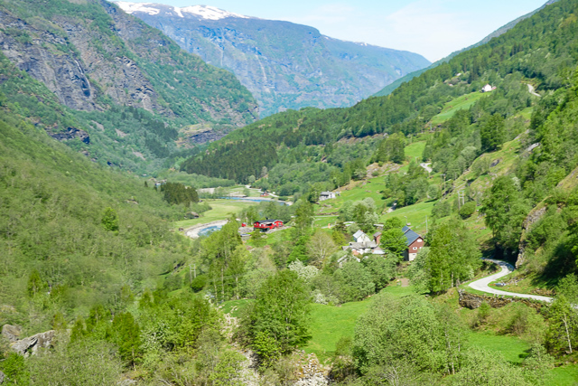 View from the Flamsbana Railway in Norway