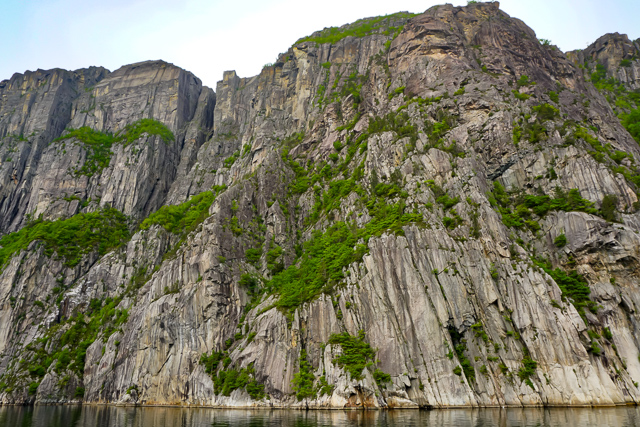 Pulpit Rock, seen from the Lysefjord Cruise in Norway