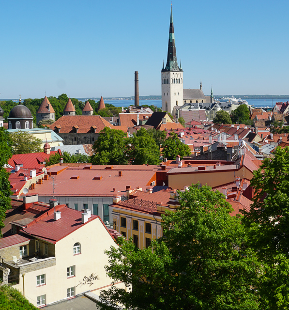 View from Kohtuotsa Viewing Platform in Tallinn Old Town, Estonia