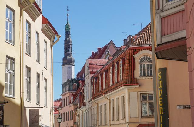 Beautiful architecture in Old Town Tallinn, Estonia