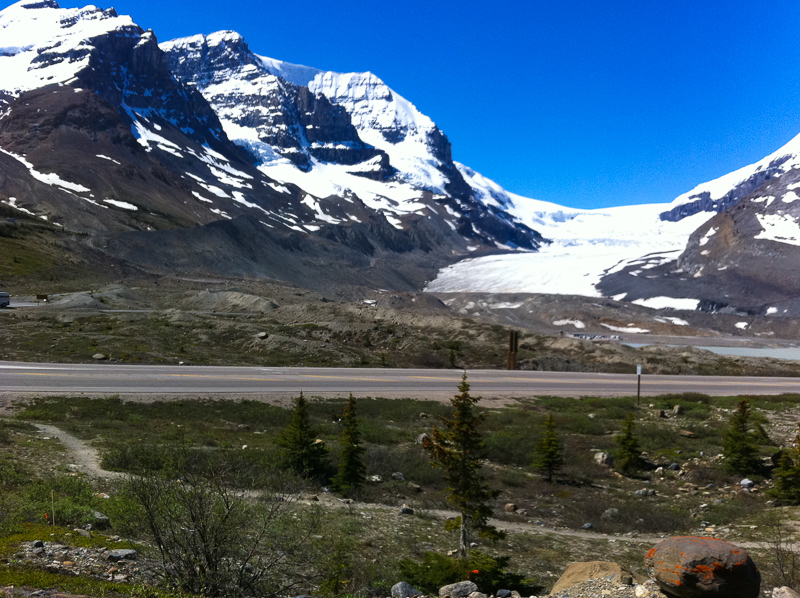 A view of the Athabasca Glacier Alberta Canada