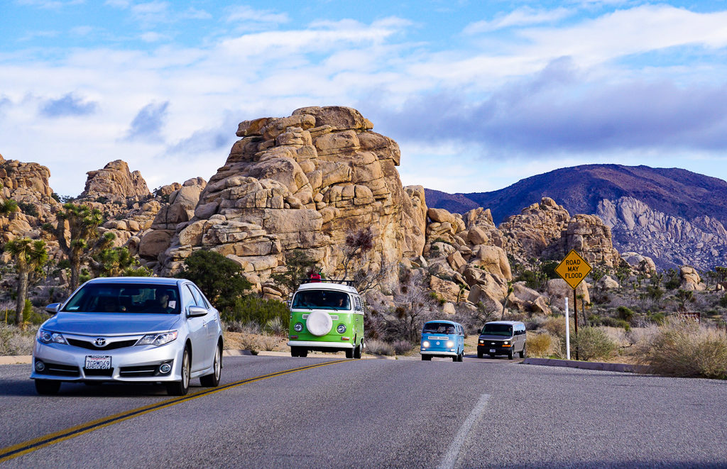 The drive through Joshua Tree National Park in California is very scenic!
