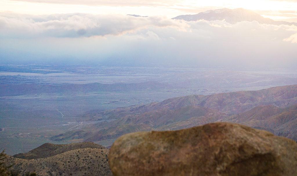Keys View in Joshua Tree National Park, California USA