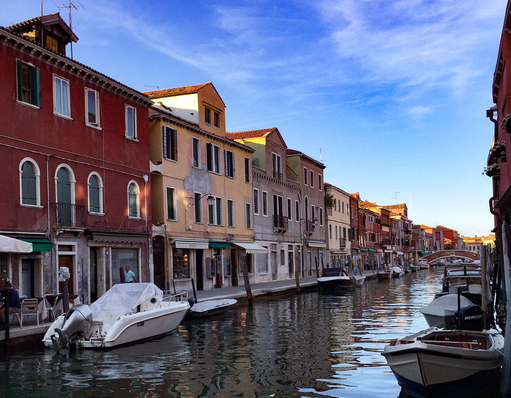 The Grand Canal in Murano, Italy