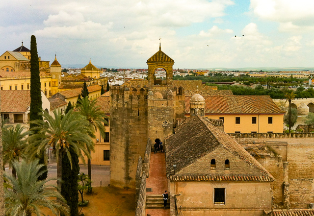 View from the Alcazar in Cordoba, Spain