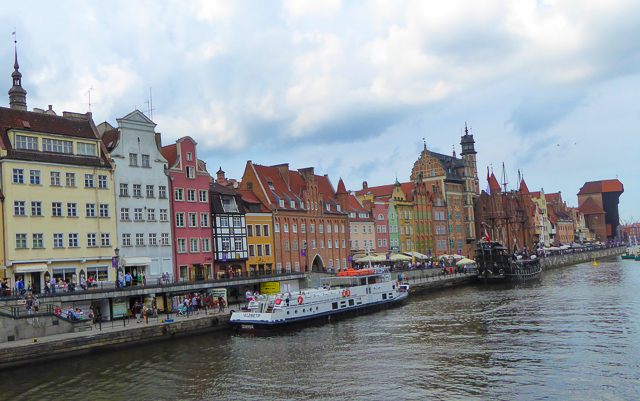 The Waterfront at Gdansk Poland, one of the stops on the Viking Homelands Ocean Cruise itinerary