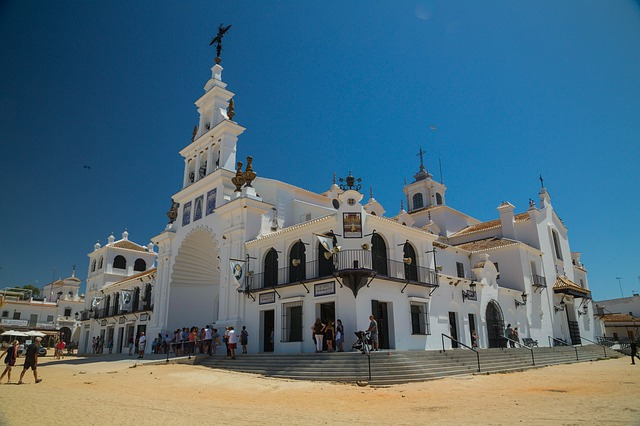 Hermitage at El Rocio in Andalusia Spain