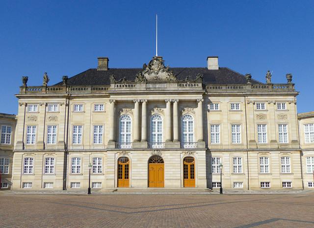 Amalienborg Palace Square Copenhagen Denmark