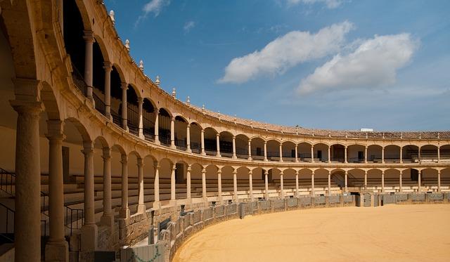 The Bullring in Ronda, Andalusia, Spain