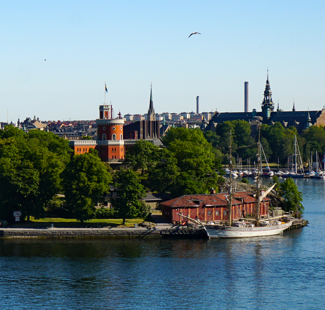 The Kastallet of Stockholm, seen from the water