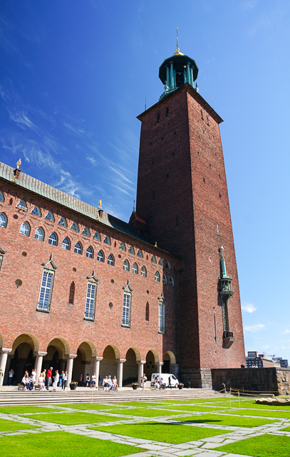 Climbing to the top of the tower at City Hall is a great start to covering Stockholm in a day!