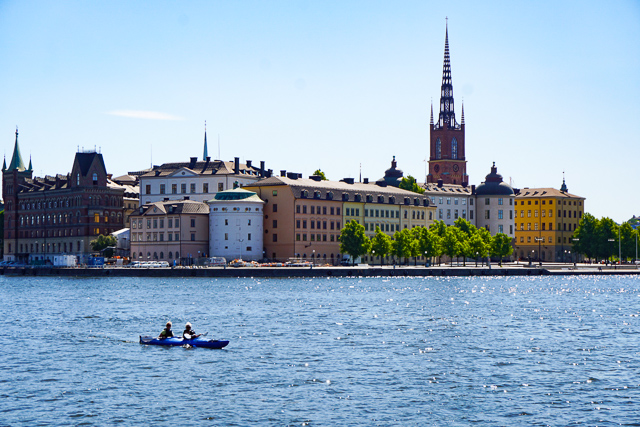 View from Stockholm City Hall in Stockholm Sweden