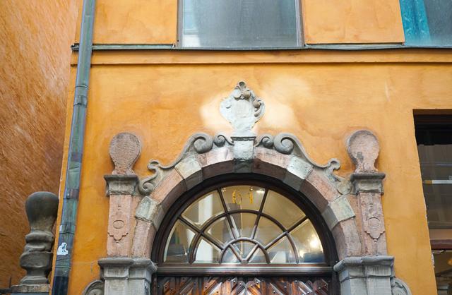 Facade at Gamla Stan in Stockholm, Sweden