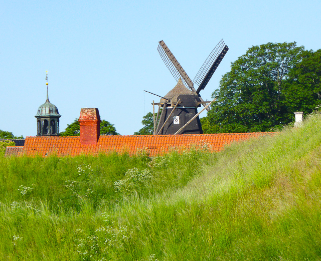 Windmill at Kastallet in Copenhagen, Denmark