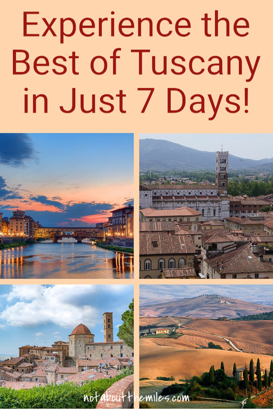 Experience the very best of Tuscany with this fabulous 7-day Tuscany trip itinerary!