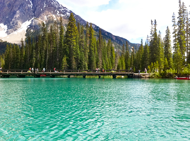 Bridge over Emerald Lake, Bristish Columbia, Canada