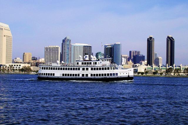 Cruiseboat in San Diego Bay, San Diego, California