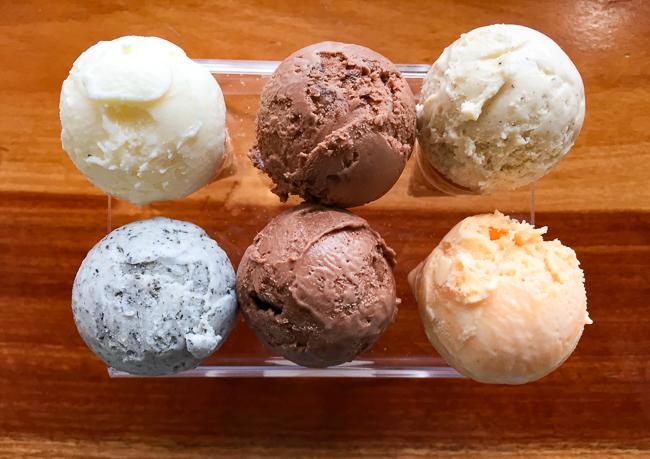 Ice cream flight at Hammond's in San Diego, California