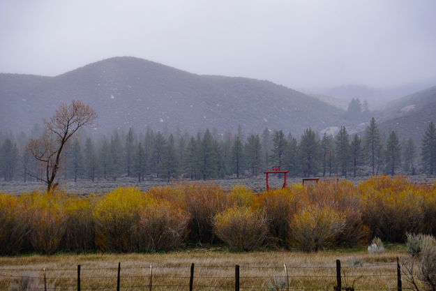 Landscape near Lake Hemet California on Highway 74