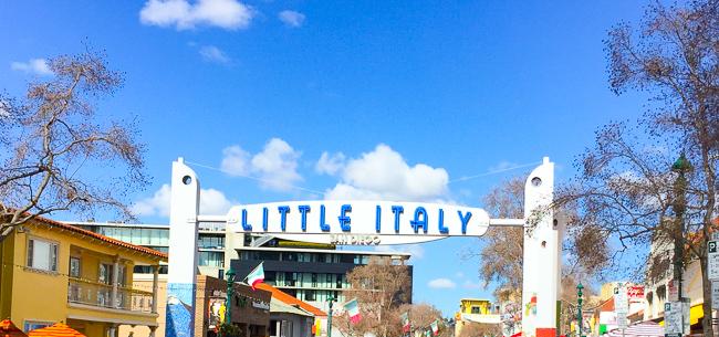 Little Italy sign, San Diego, California
