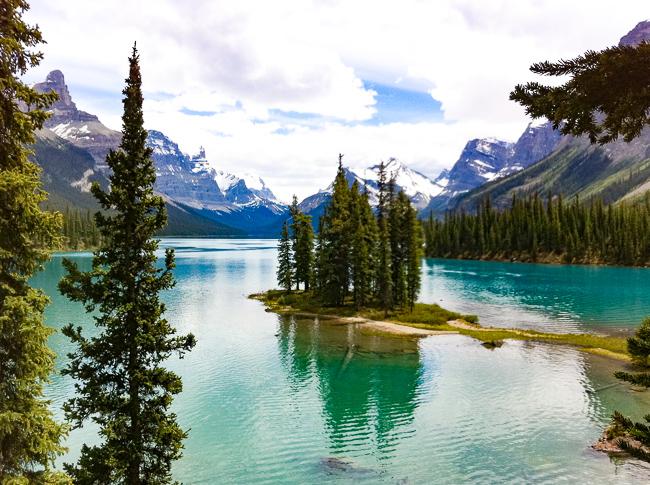 Spirit Island Maligne Lake Jasper National Park Canada