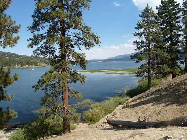 View of Big Bear Lake, California