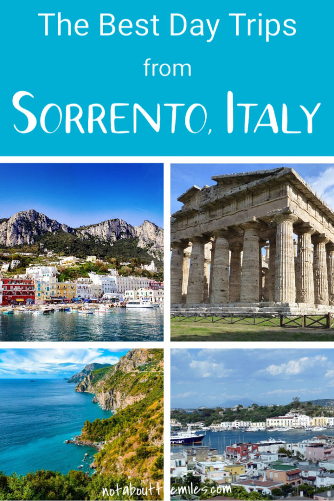 From the spectacular Amalfi Coast Drive to the beautiful islands of Capri and Ischia, and from the historic city of Naples to the archaeological wonders of Pompeii and Herculaneum, discover the best day trips from Sorrento to add to your itinerary! #sorrento #italytravel #daytrips