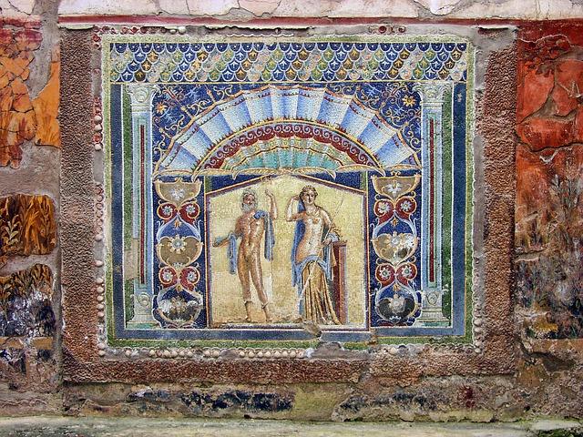Mural Herculaneum Italy