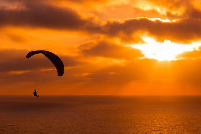 Sunset at Torrey Pines, San Diego, California