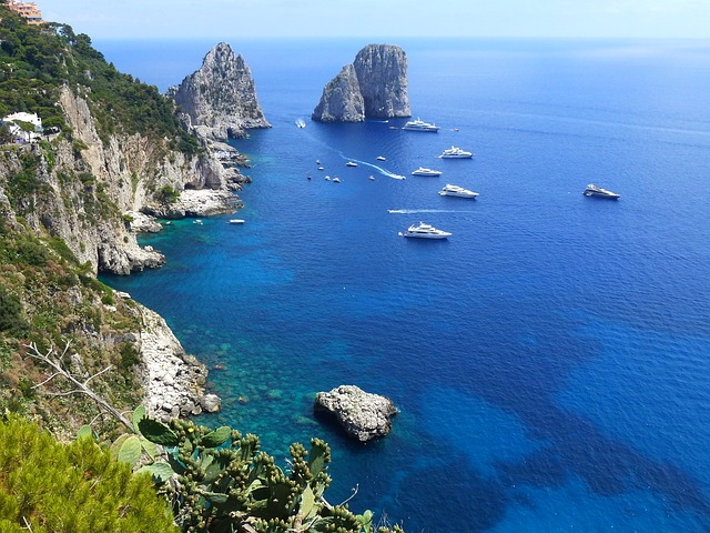 View from Isle of Capri, Italy