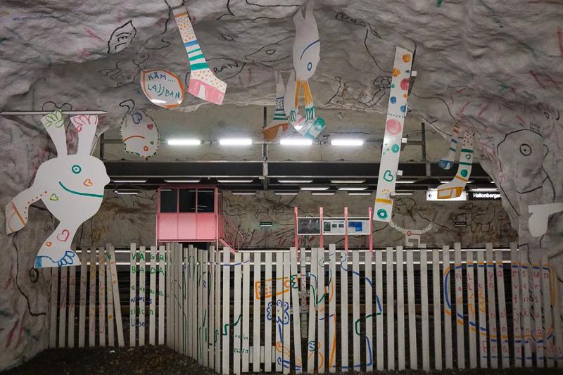 Subway Art Hallonberg Station Stockholm Sweden