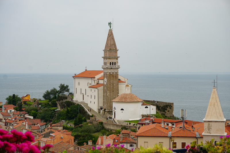 View from Church of St. George Piran Slovenia