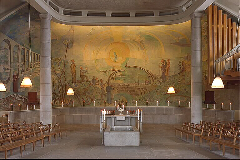 Holy Cross Chapel Skogskyrkogarden Stockholm Sweden