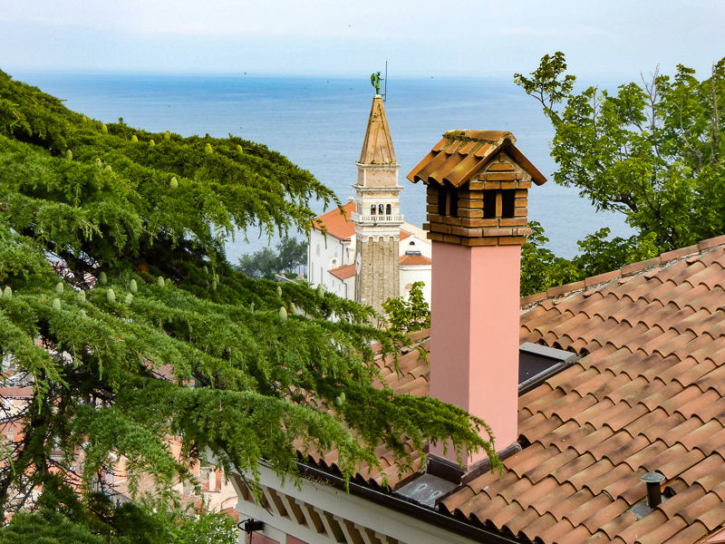 Rooftop in Piran Slovenia