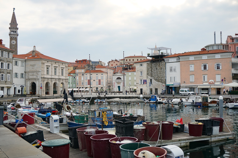 Piran Slovenia retains some if its fishing village charm