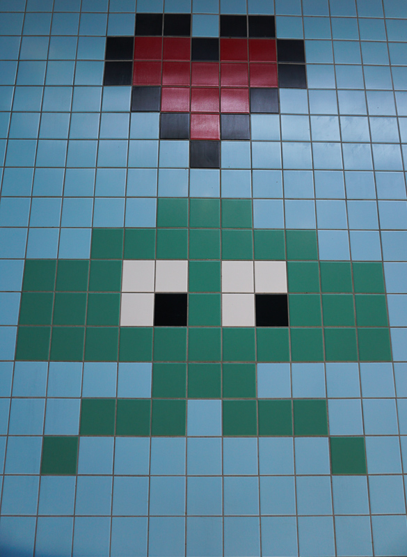Pixel Art Thorildsplan Subway Station Stockholm
