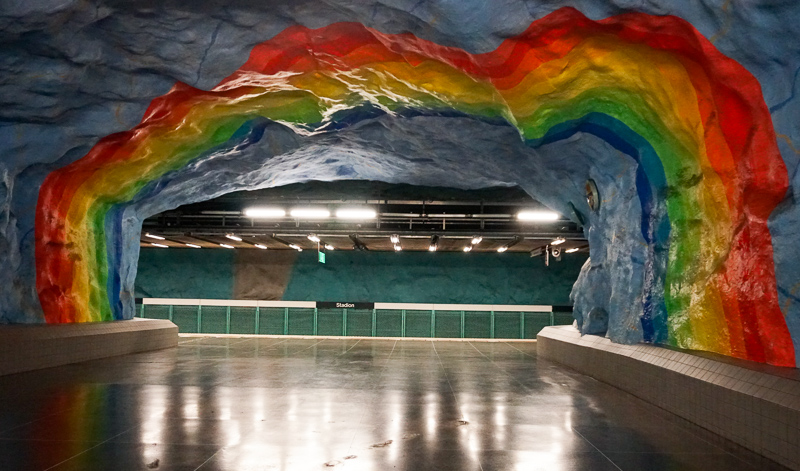 Rainbow Cave Stadion Station Stockholm