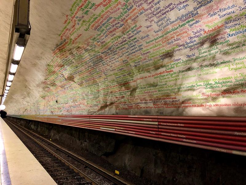 Rissne Station Metro Art, Stockholm, Sweden
