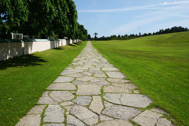 Stone Pathway Woodland Cemetery Stockholm
