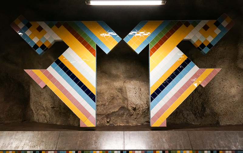 Subway Art Vastra skogen Station Stockholm